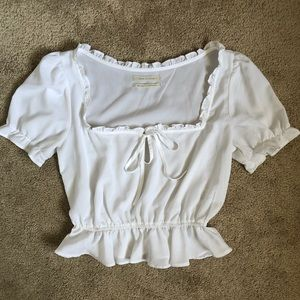 Urban Outfitters Peasant Puff Sleeve Top Blouse